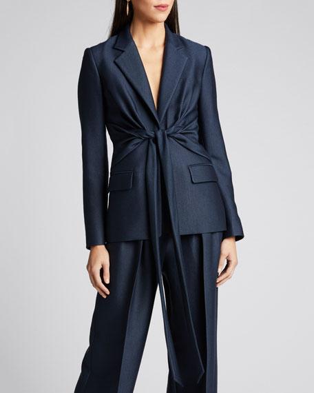Grant Knotted Wool-Silk Blazer
