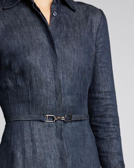 Patti Linen Denim Shirtdress