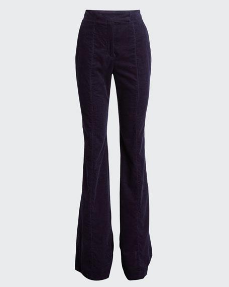 Leda Flare-Leg Corduroy Pants