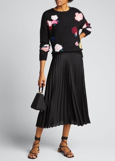 Mohair Intarsia Crewneck Sweater