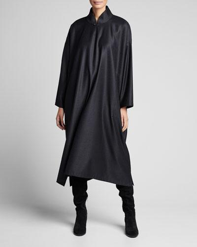 Wool-Silk Wide A-Line Dress