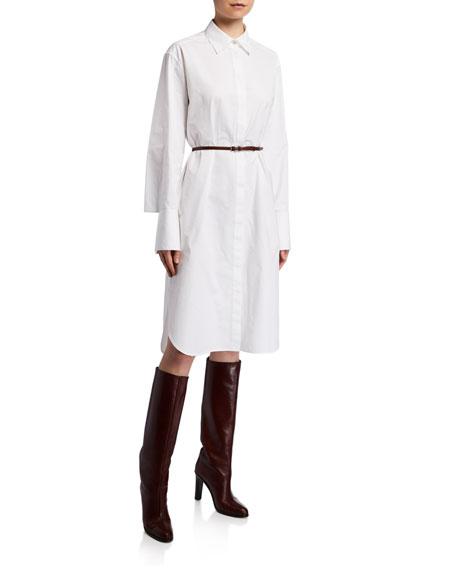 Sonia Long-Sleeve Cotton Shirtdress