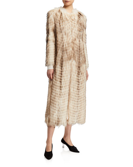Keiko Fox Fur Long Coat