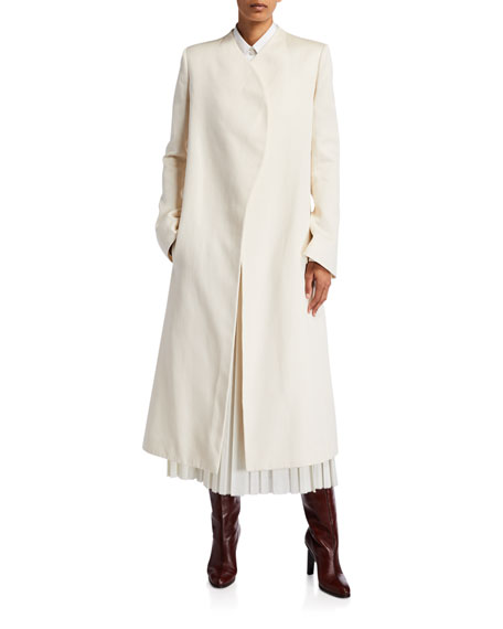 Image 1 of 1: Marion Wrapped Cotton Coat
