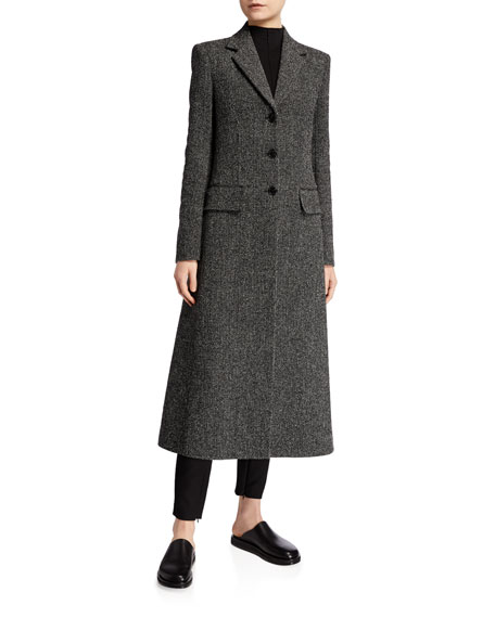 Image 1 of 1: Sua Wool Button-Front Coat