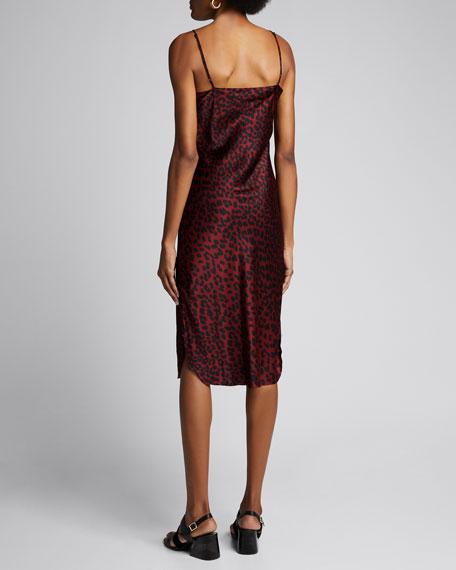 Leopard-Print Silk Slip Dress