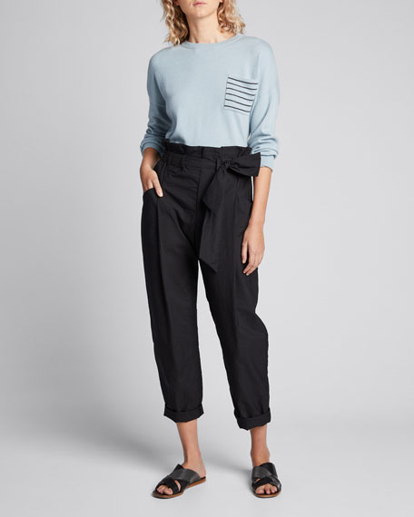 Image 1 of 1: Cashmere Horizontal-Striped Sweater