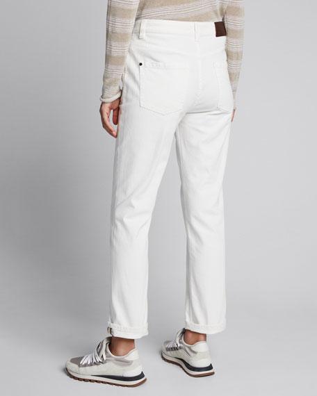 Monili-Beaded Cuff Jeans