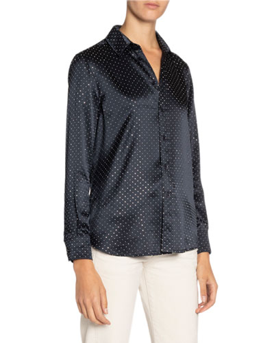 Studded Satin Shirt