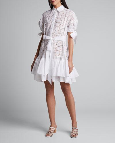 Madrasa Lace Short Dress