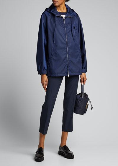 Nylon Gabardine Hooded Jacket
