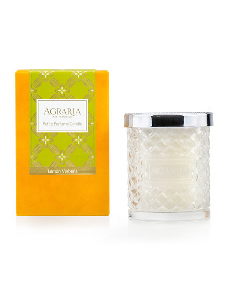 Lemon Verbena Woven Crystal Perfume Candle, 7 oz.