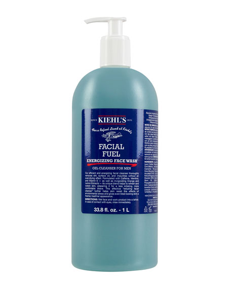 Facial Fuel Energizing Face Wash Gel Cleanser for Men, 1 L