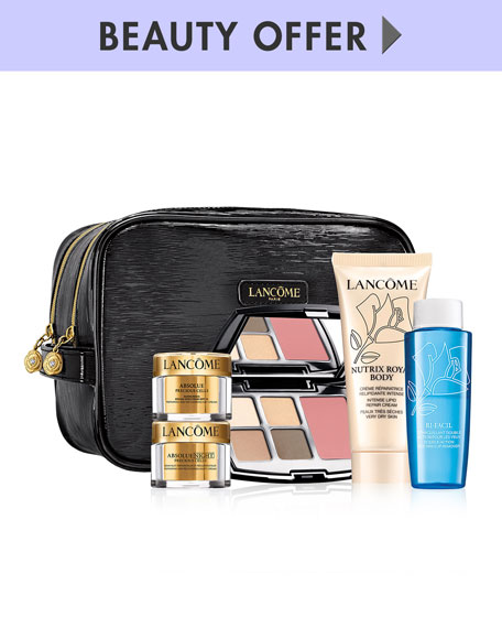 Receive a free 6-piece bonus gift with your $100 Lancôme purchase