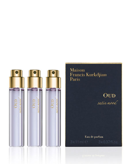 OUD satin mood Eau de Parfum Travel Spray Refills, 3 x 0.37 oz./ 11 mL