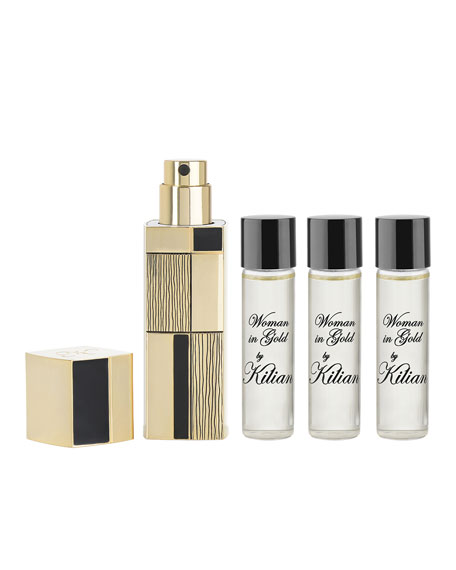 Woman In Gold Travel Spray with its 4 x .25 oz refills