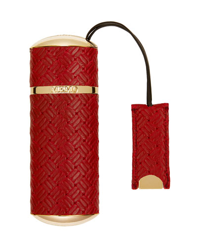Red Knitted Refillable Travel Spray