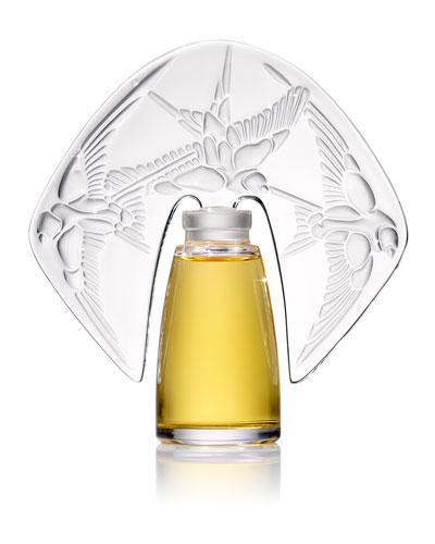 Amorem Rose Parfum presented in a Lalique Crystal Flacon  1 oz. / 30 mL