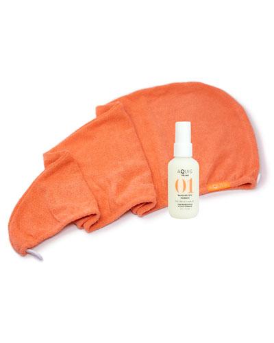 Tangerine Rapid Dry Lisse Hair Turban + 2 oz. Prime Water Defense Prewash