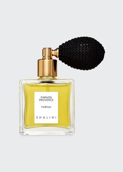 Paradis Provence Cubique Glass Bottle with Black Bulb Atomizer  1.7 oz./ 50 mL