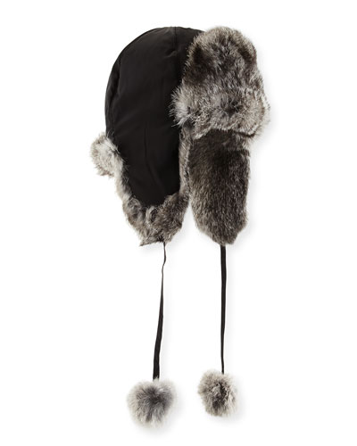 Rabbit Fur Trapper Hat