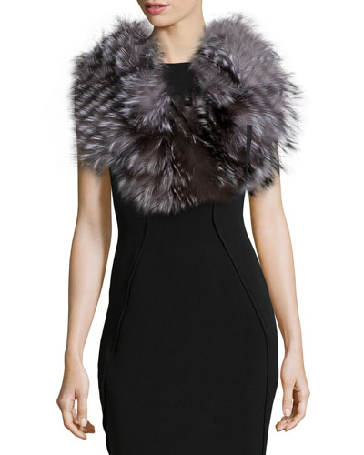 Layered Fur Cowl Collar, Lined