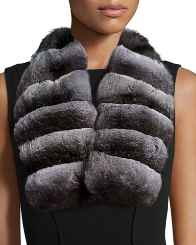 Chinchilla Fur Collar, Natural