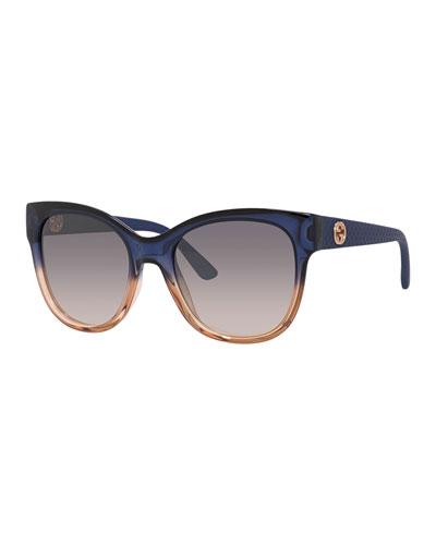 Lattice Cat-Eye Sunglasses