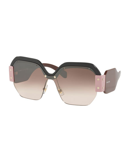 Image 1 of 1: Sorbet Square Wrap-Around Sunglasses