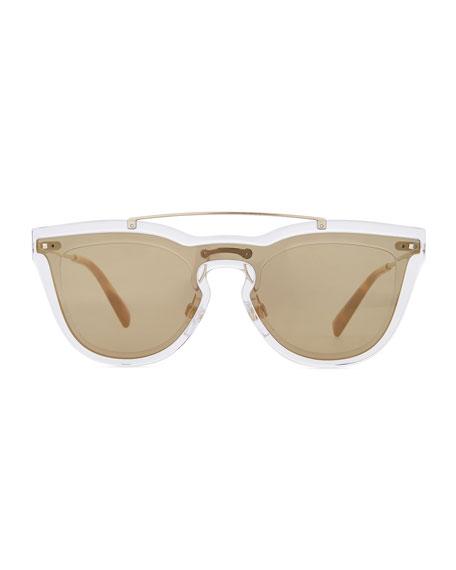 Glamgloss Mirrored Shield Sunglasses