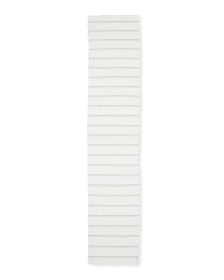 Cotton-Stretch Stripe Scarf