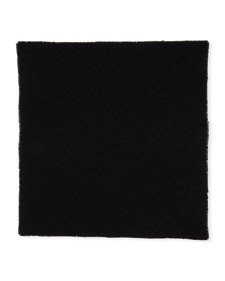 Macro FF Wool-Cashmere Shawl