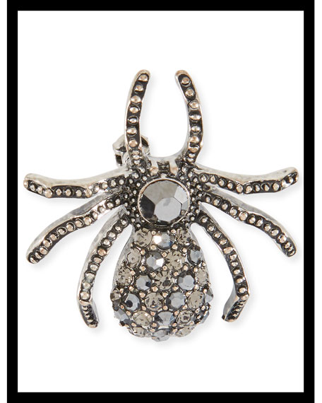 Embellished Silver Baby Spider Hair Pin