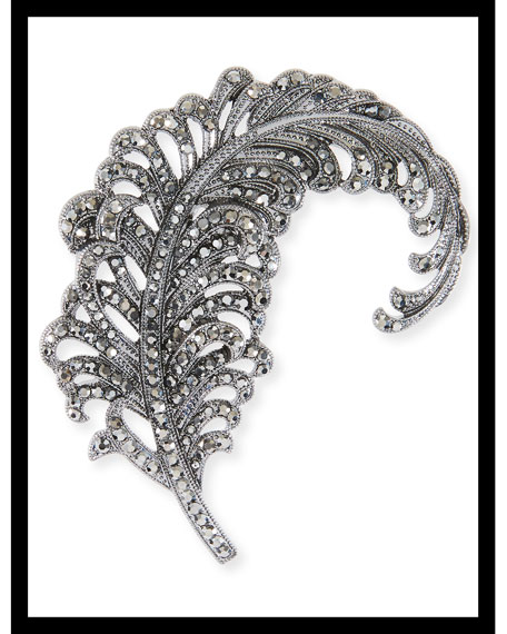 Hem Feather Embellished Hair Pin
