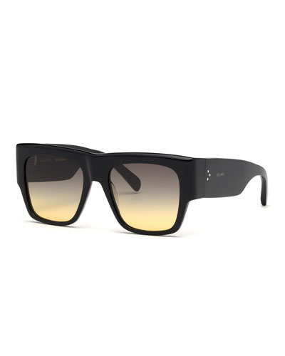 Square Chunky Gradient Sunglasses