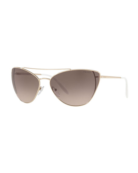 Image 1 of 1: Metal Cat-Eye Sunglasses