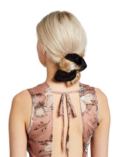 Hammered Silk Scrunchie