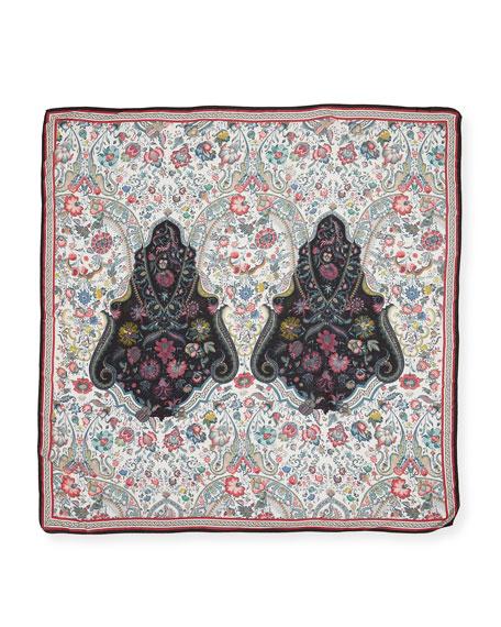 Floral Medallion-Print Scarf