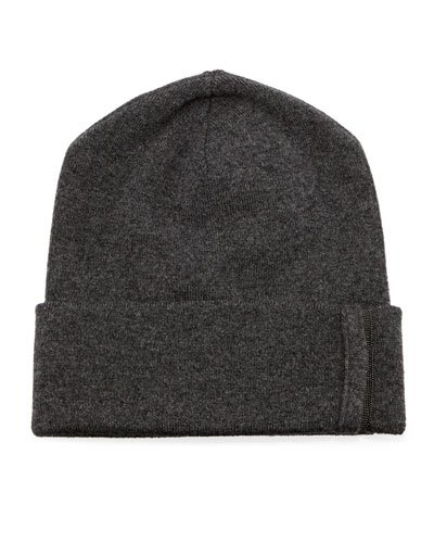 Cashmere Monili-Beaded Beanie