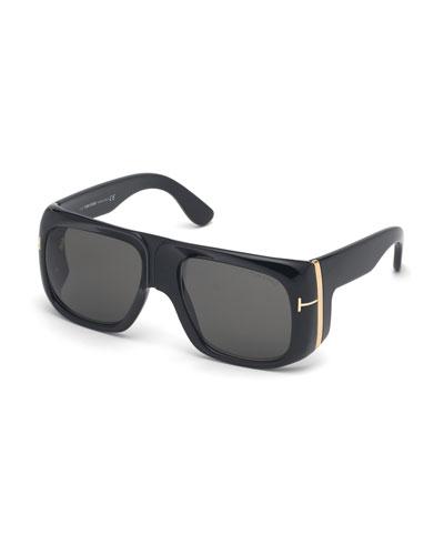 Gino Square Acetate Sunglasses