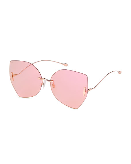Image 1 of 1: Rimless Butterfly Sunglasses