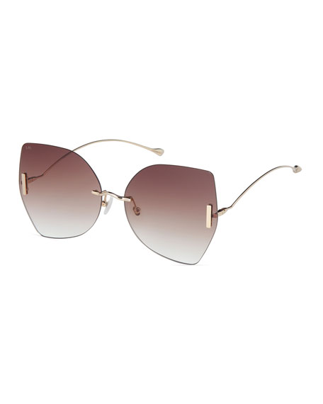 Rimless Butterfly Sunglasses
