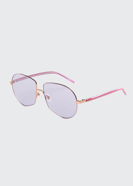 Round Stainless Steel Sunglasses