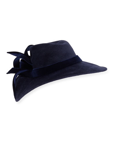 Velour Structured Wave Hat