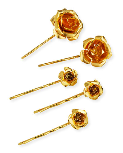 Field of Roses Bobby Pin Set