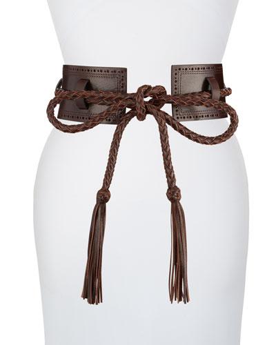 Leather Belted-Front Belt