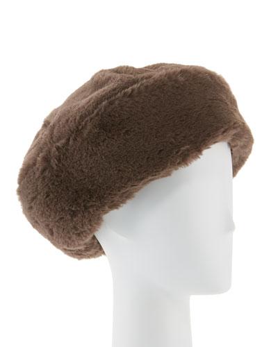 Mishka Faux-Fur Beret Hat