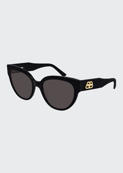 Acetate Cat-Eye Sunglasses  with BB Temple