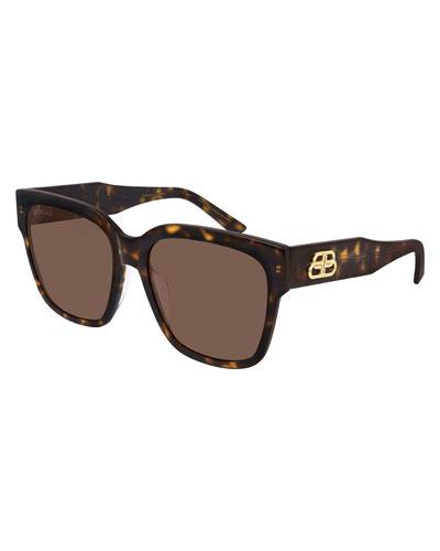 Square Acetate Sunglasses  with BB Temple
