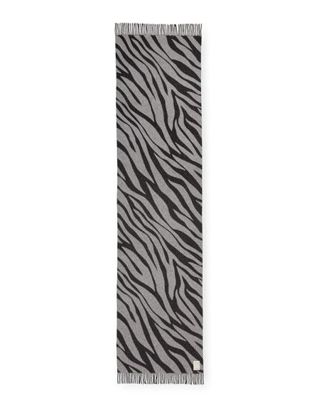Oversized Zebra Scarf